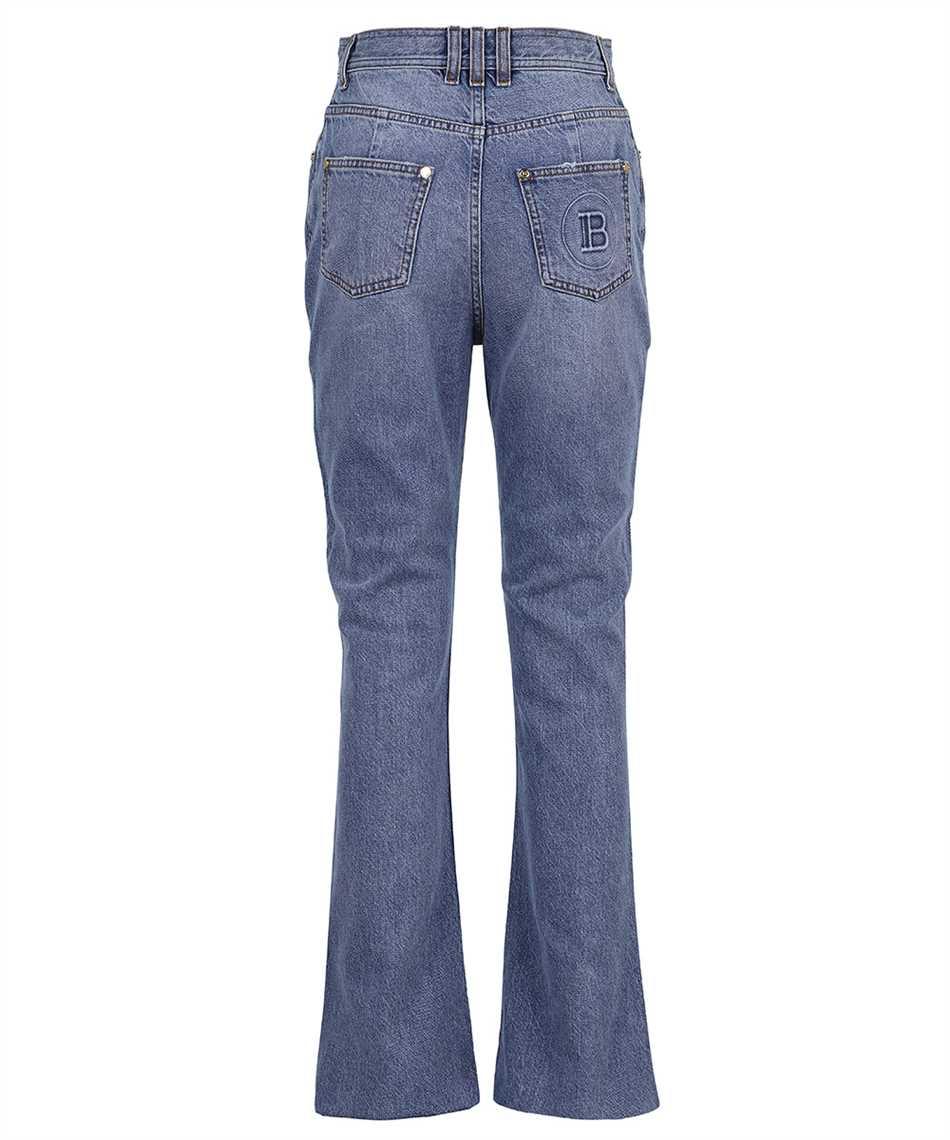 Balmain VF0MJ025D113 HIGH WAIST BOOTCUT Jeans 2