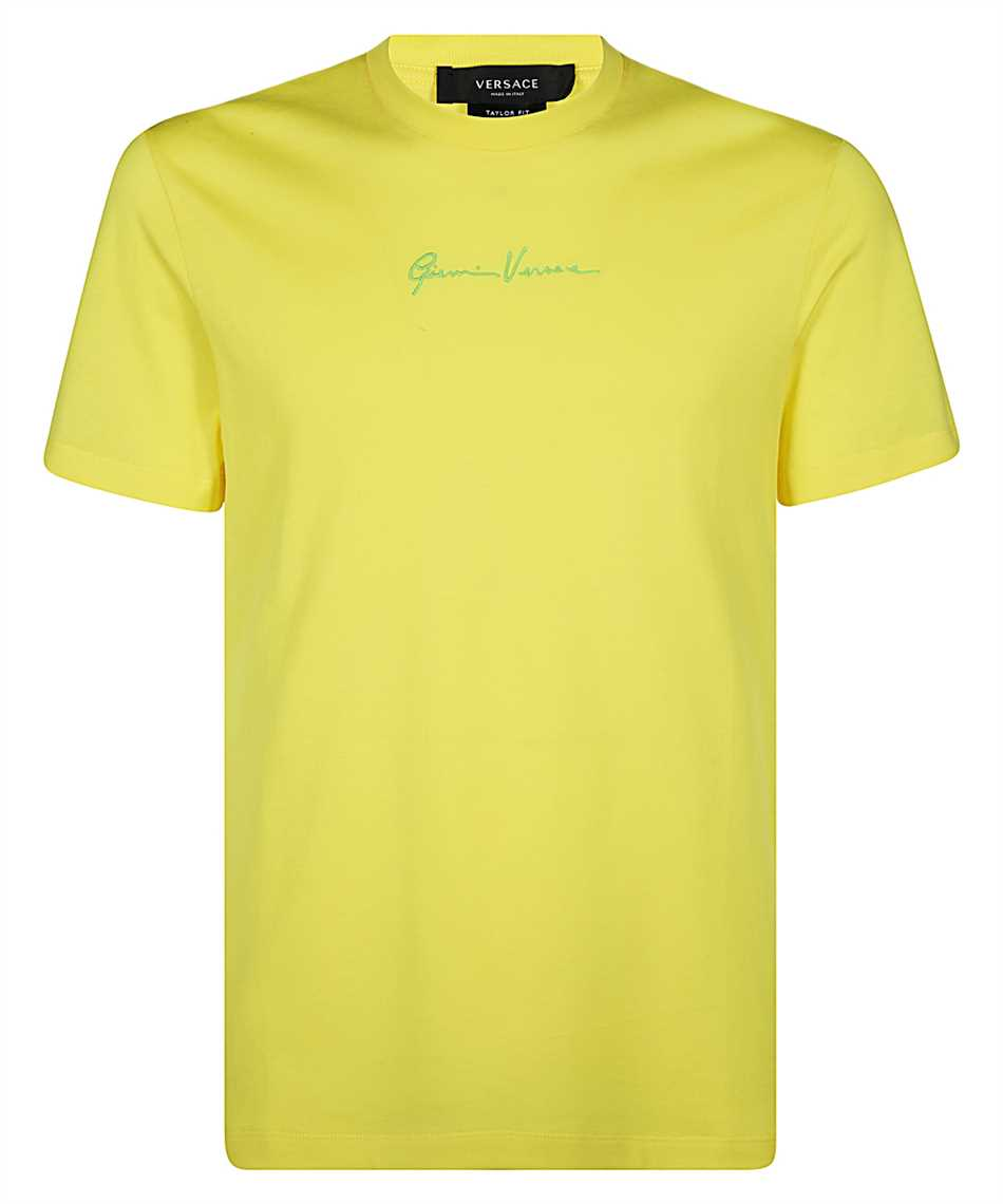 Versace A87500 A228806 EMBROIDERED GV SIGNATURE T-Shirt 1