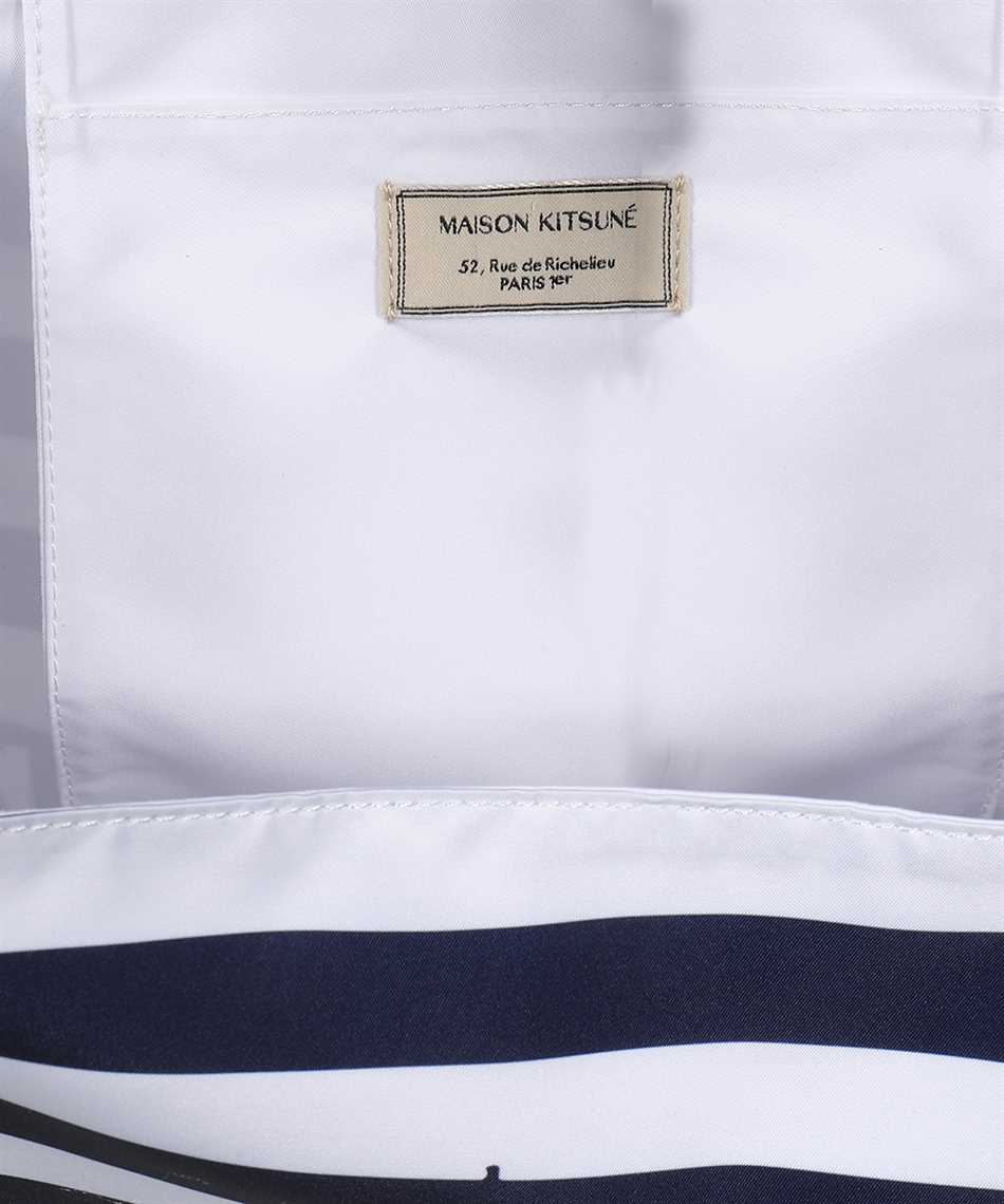 Maison Kitsune GU06125WQ40008 PARISIEN TOWER STRIPES NYLON Taška 3