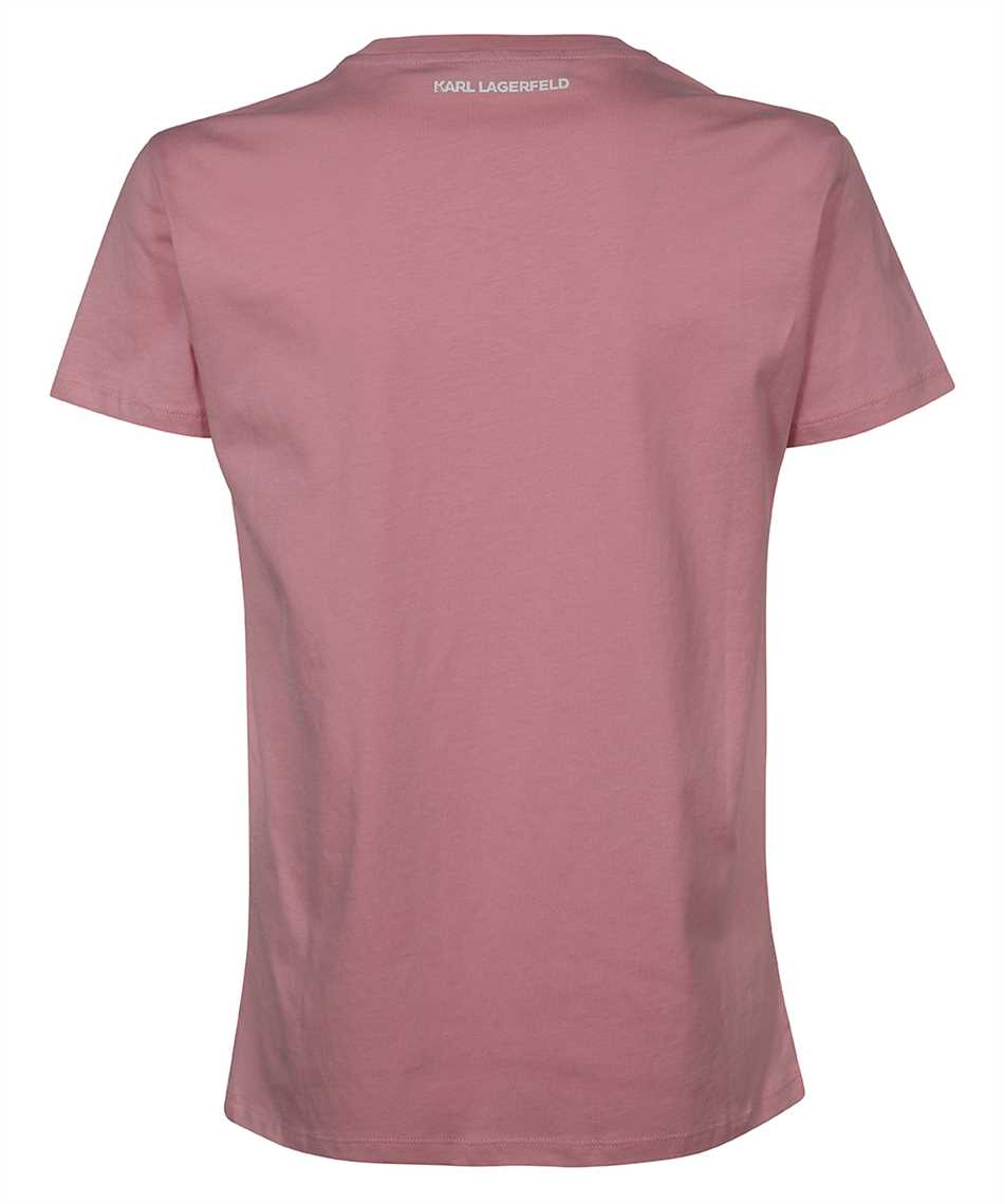 Karl Lagerfeld 211W1706 RHINESTONE KARL LOGO T-shirt 2