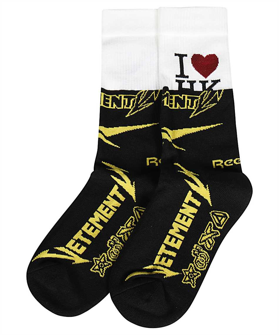 Vetements UE51SO300B HK CUT-UP LOGO Socks 1