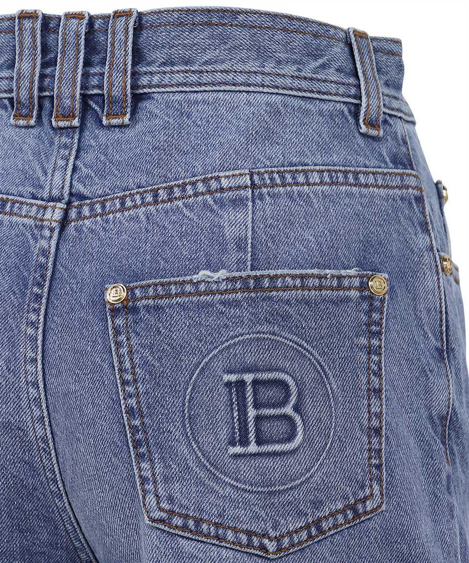 Balmain VF0MJ025D113 HIGH WAIST BOOTCUT Jeans 3