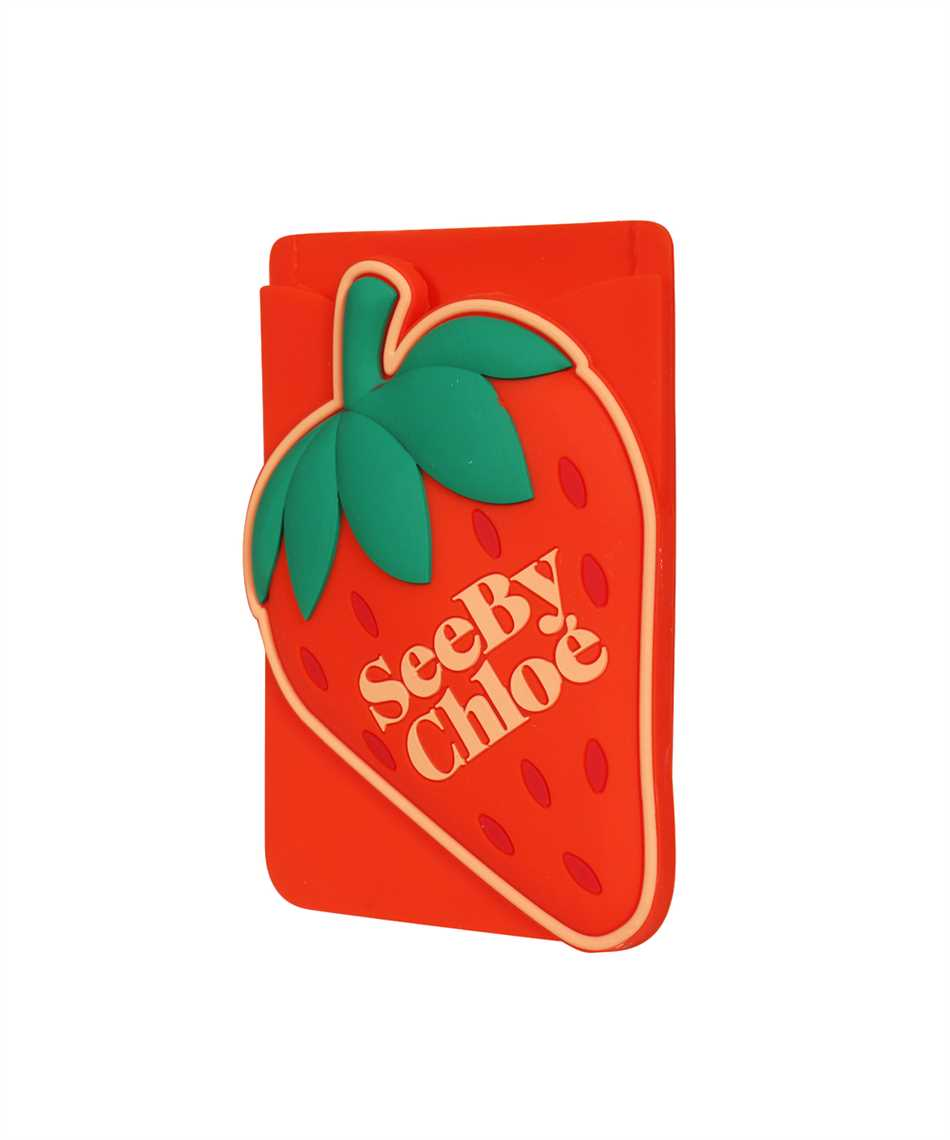 See By Chloè CHS21AK649A07 JARDIN DE ROSES Card holder on phone 3
