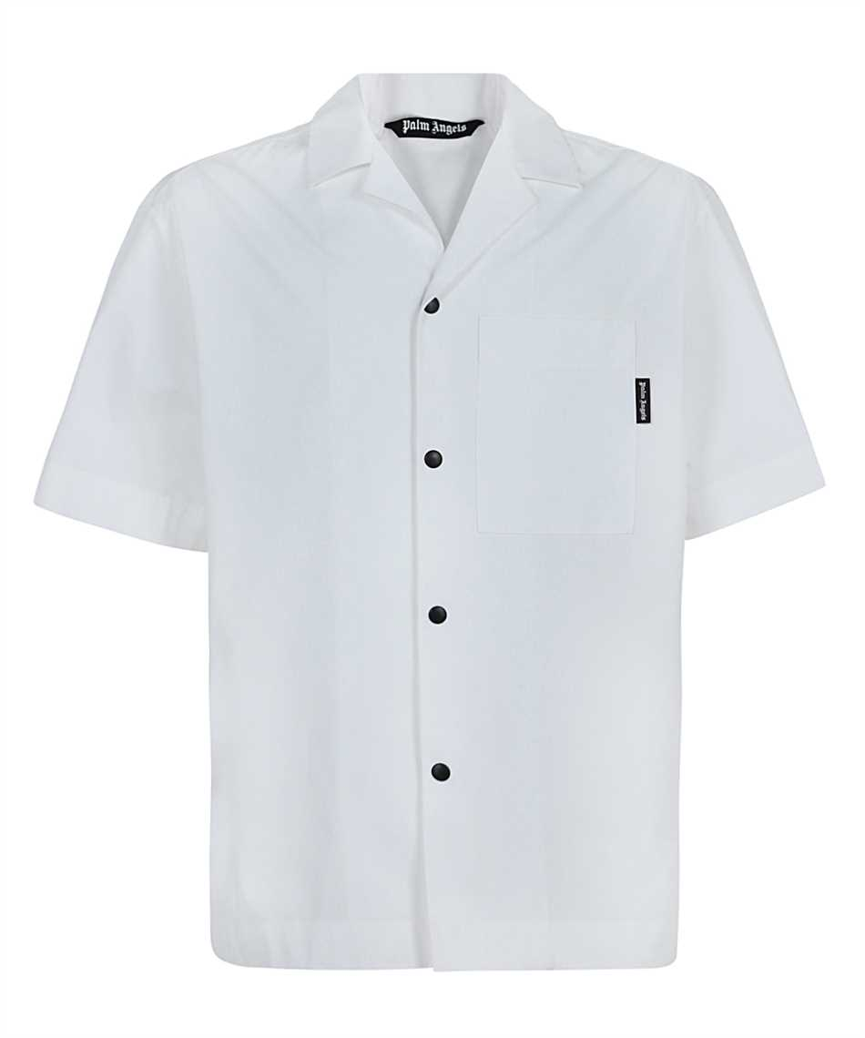 Palm Angels PMGA037S21FAB006 CURVED LOGO BOWLING Shirt 1