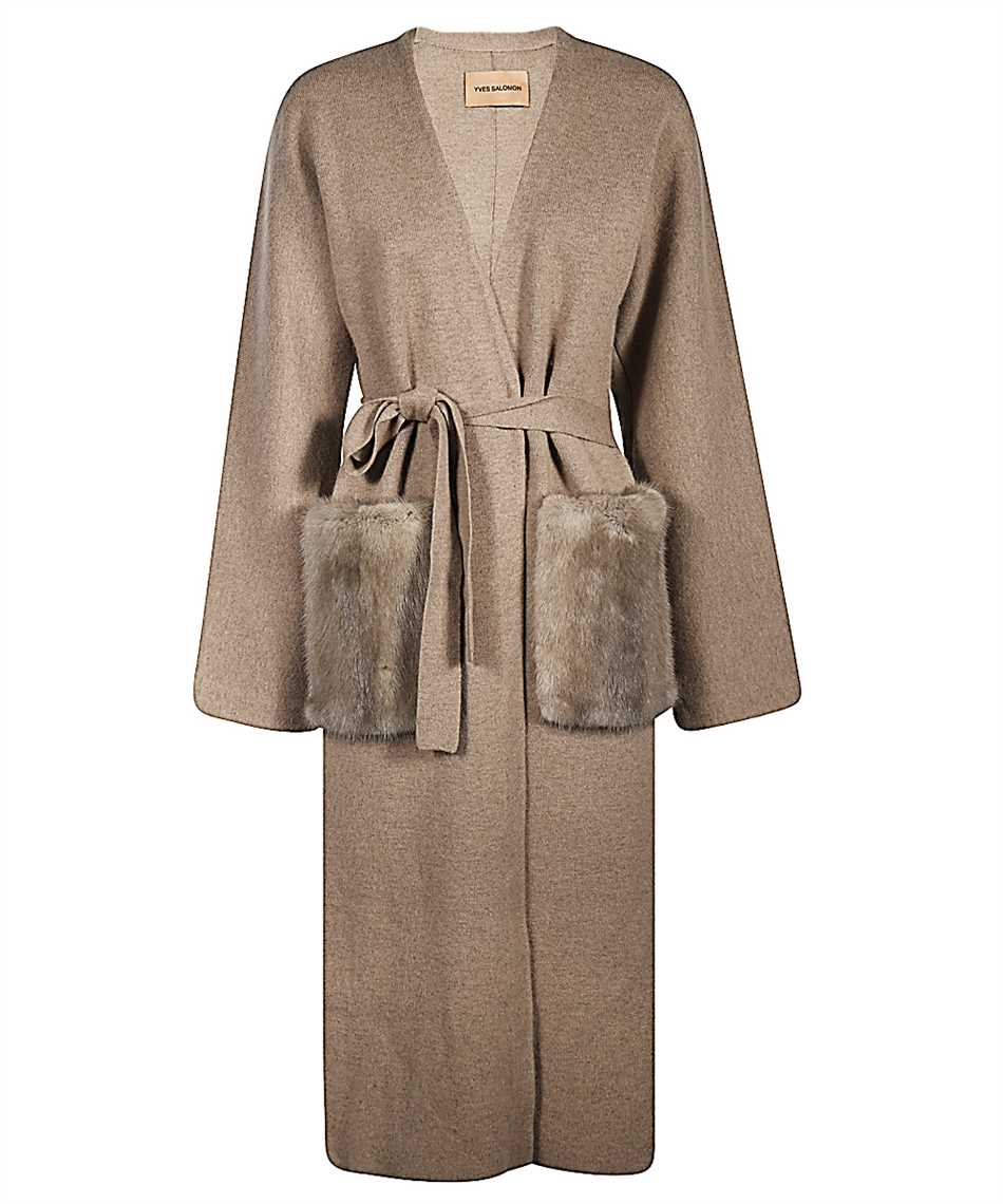 Yves Salomon 21WYM51113MCMA MINK FUR Coat 1