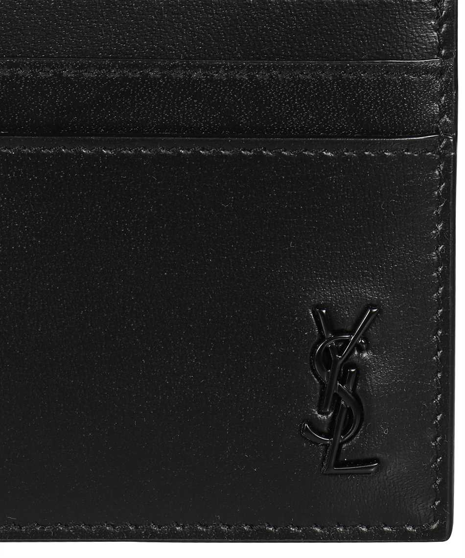 Saint Laurent 607603 1JB0U TINY MONOGRAM Púzdro na karty 3