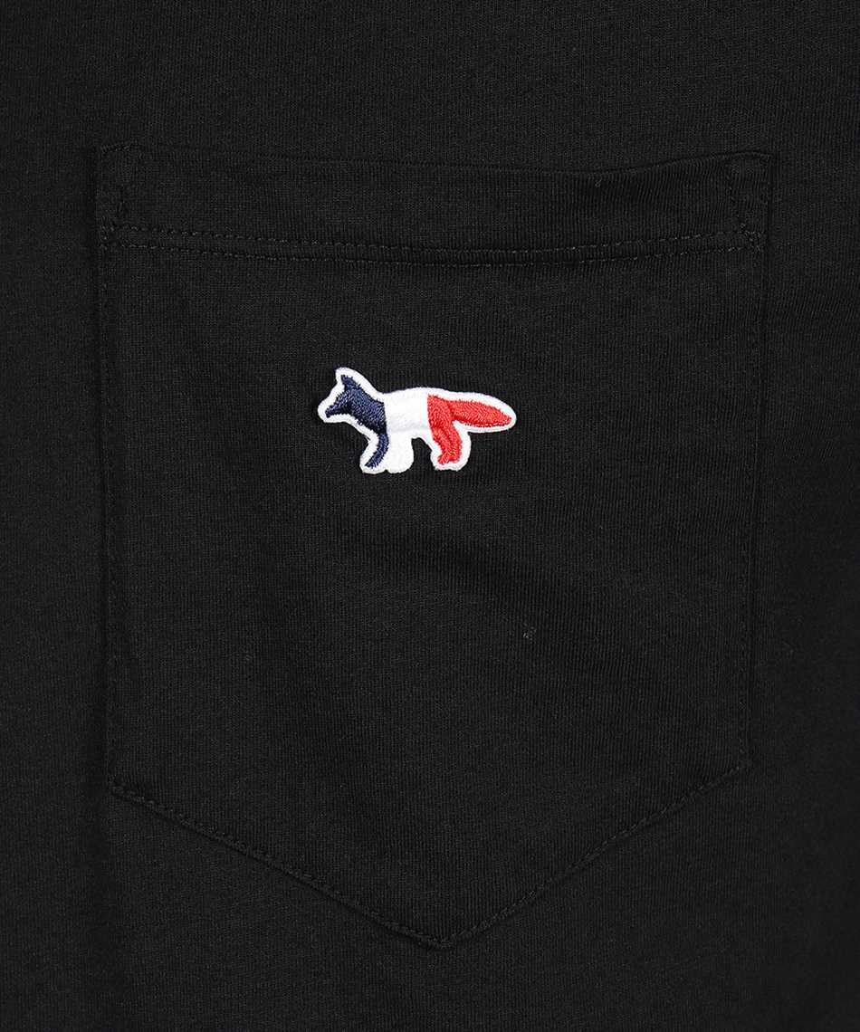 Maison Kitsune FM00120KJ0010 TRICOLOR FOX PATCH POCKET T-Shirt 3