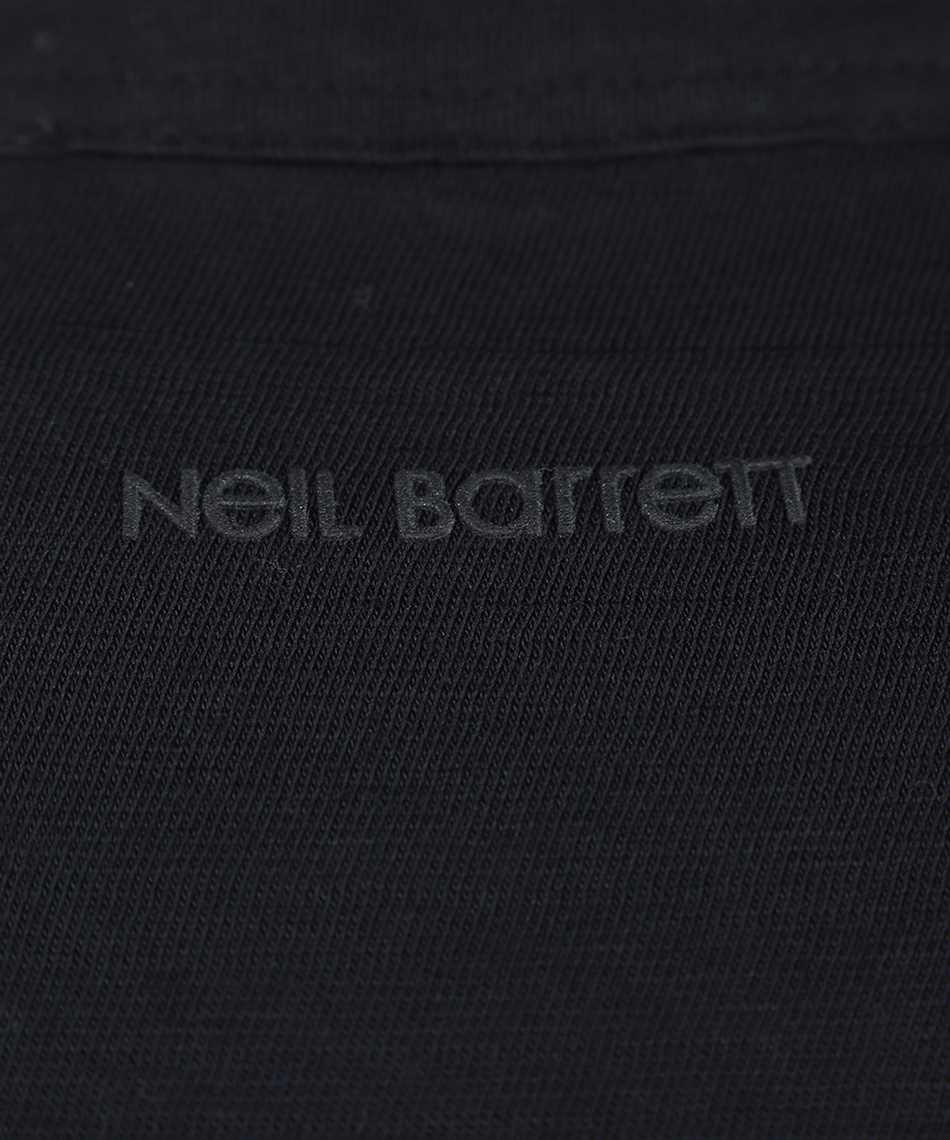 Neil Barrett PBJT886 Q521S TRAVEL HYBRID HENLEY T-shirt 3