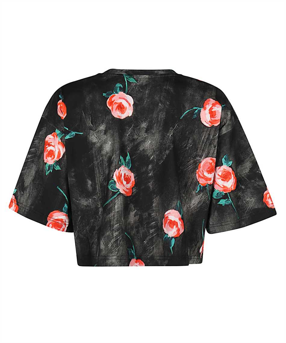 Moschino A0701 540 PAINTED FLOWERS CROPPED Tričko 2
