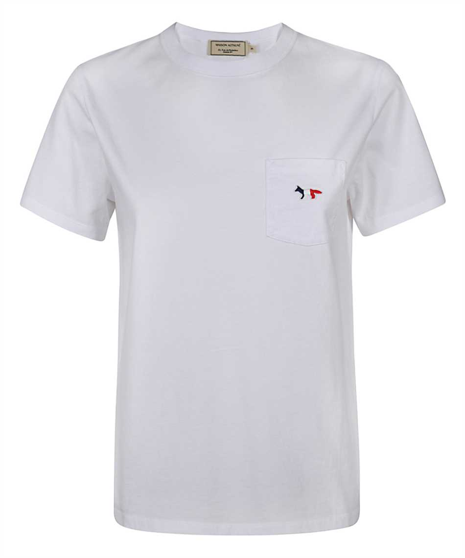 Maison Kitsune FW00107KJ0010 TRICOLOR FOX PATCH CLASSIC POCKET T-shirt 1