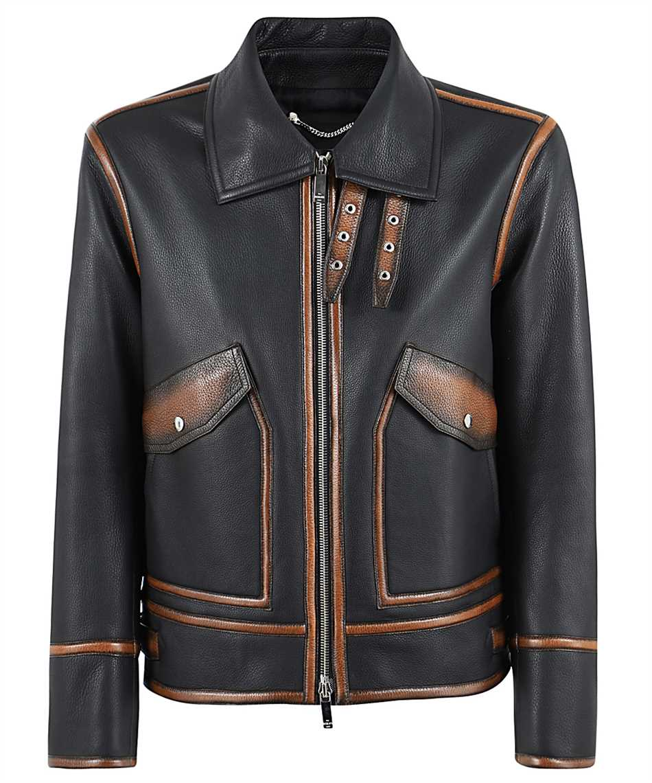 BERLUTI R18LBL89 001 PATINA DETAILS LEATHER Jacket 1