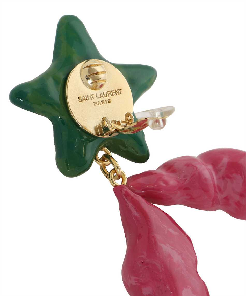 Saint Laurent 644816 Y1591 STARFISH AND SEASHELL PENDANT Earrings 3