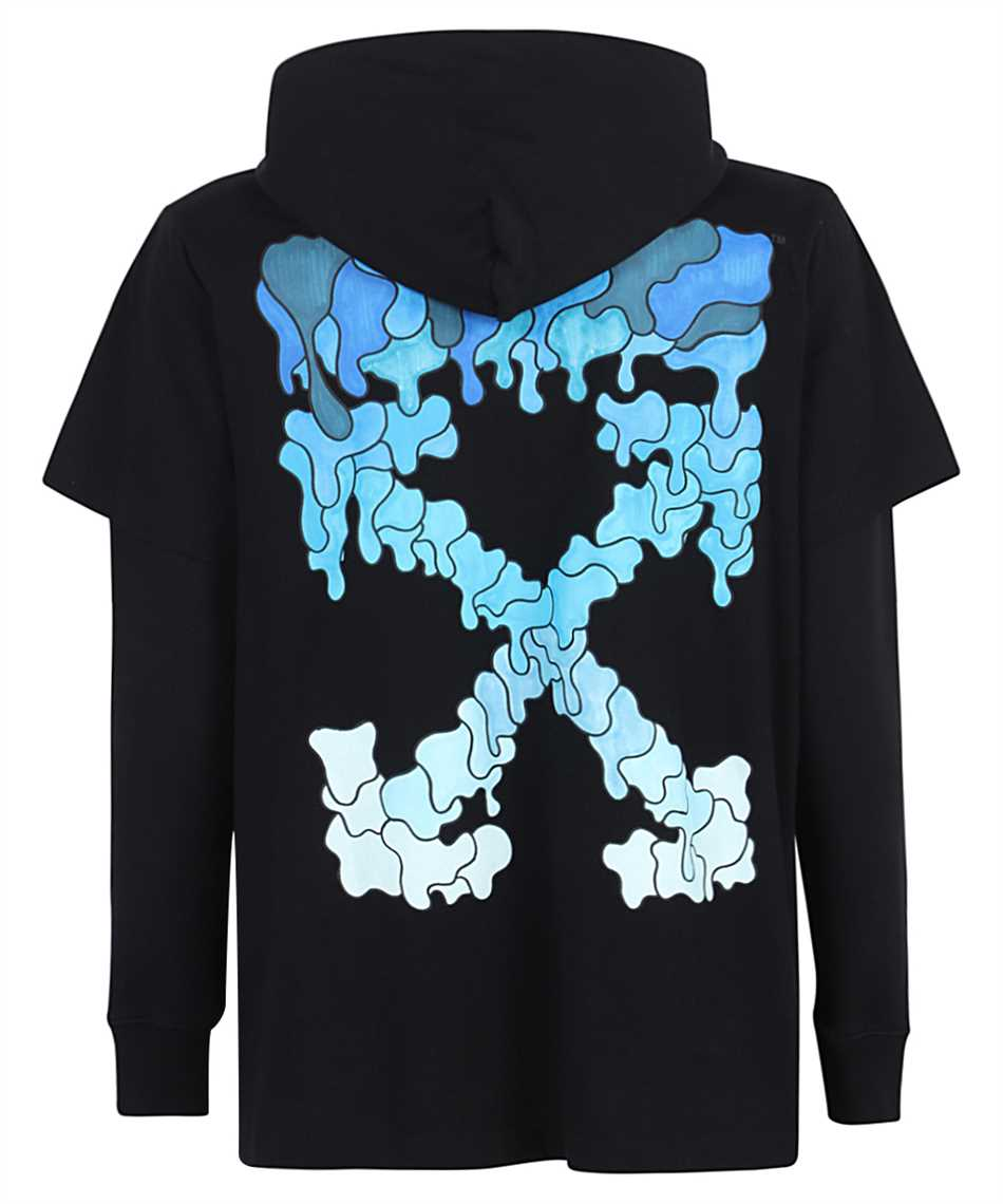 Off-White OMBB051S21FLE001 BLUE MARKER DOUBLE SLEEVE Hoodie 2