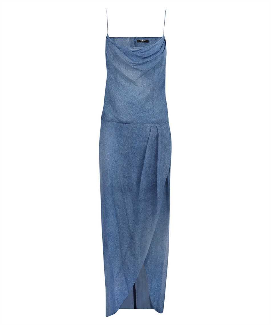 Balmain VF0RN040I667 LONG DENIM Kleid 1