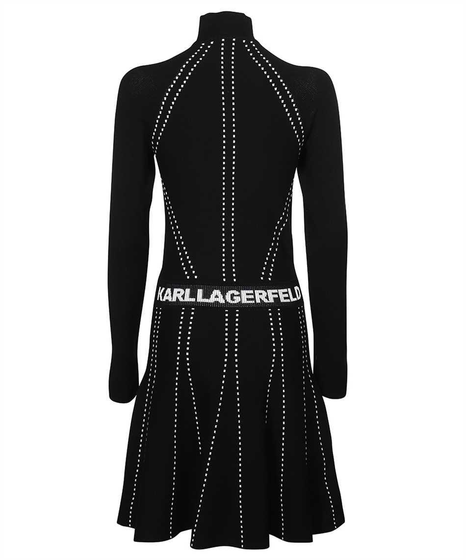 Karl Lagerfeld 216W2031 CONTRAST STITCH KNIT Dress 2