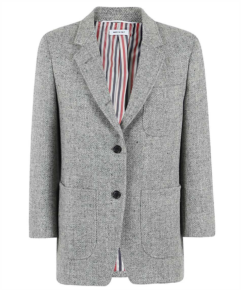 Thom Browne FBC334V 02508 HERRINGBONE HARRIS TWEED Jacket 1