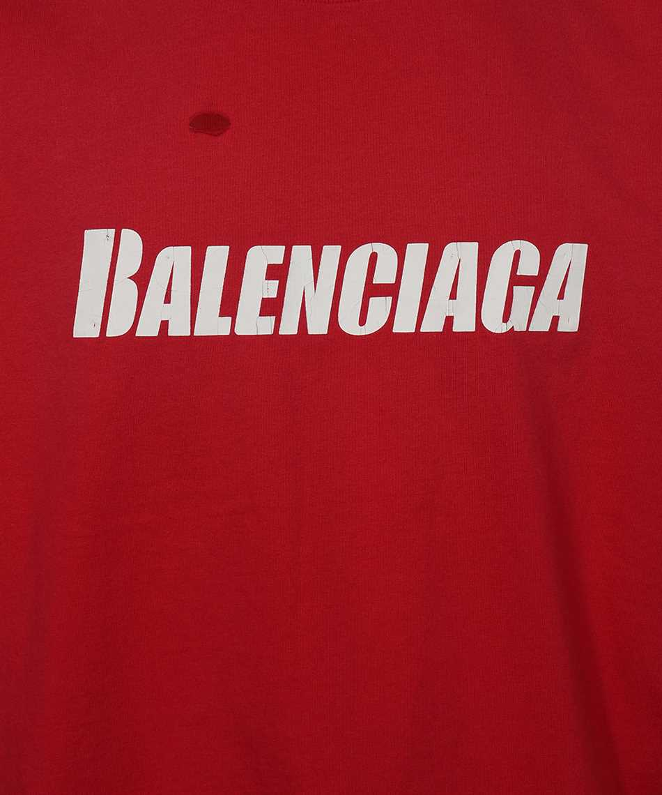 Balenciaga 651795 TKVB8 CAPS DESTROYED FLATGROUND T-shirt 3