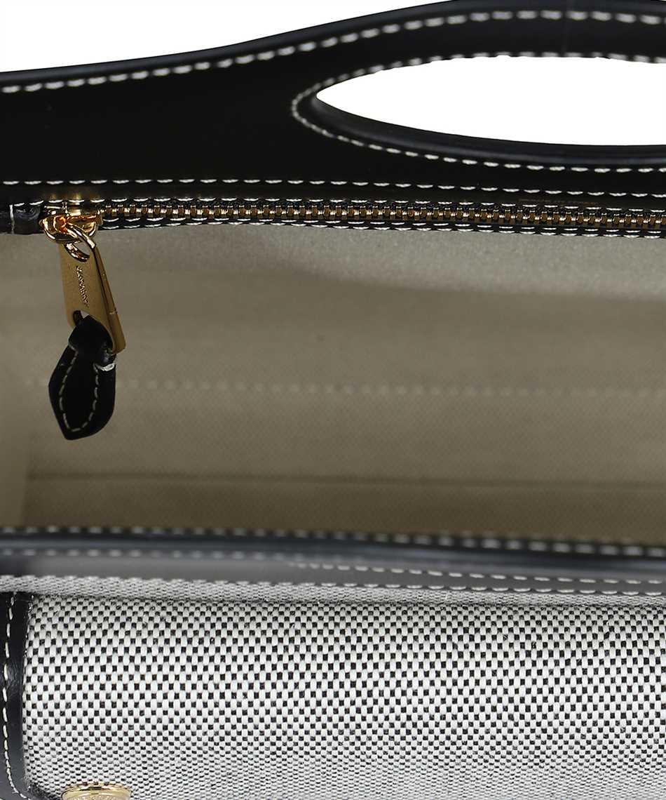 Burberry 8036814 MINI TWO-TONE CANVAS AND LEATHER POCKET Tasche 3