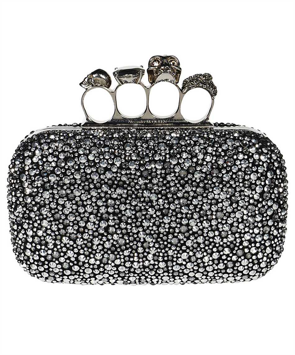 Alexander McQueen 583729 14C7Y SKULL FOUR RING Bag 1