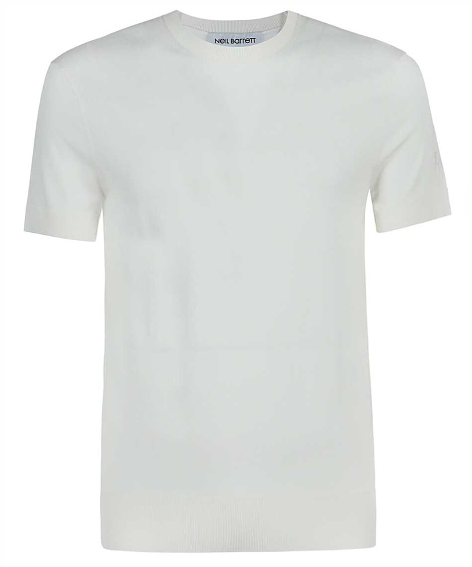 Neil Barrett PBMA1063E Q600 TRAVEL TECNO KNIT T-Shirt 1