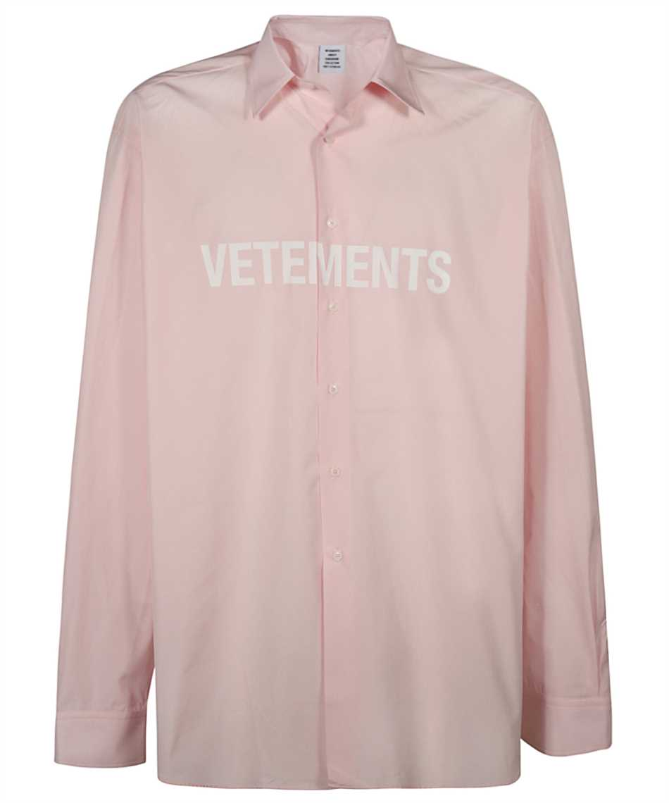 Vetements UE51SH300P FRONT LOGO Shirt 1