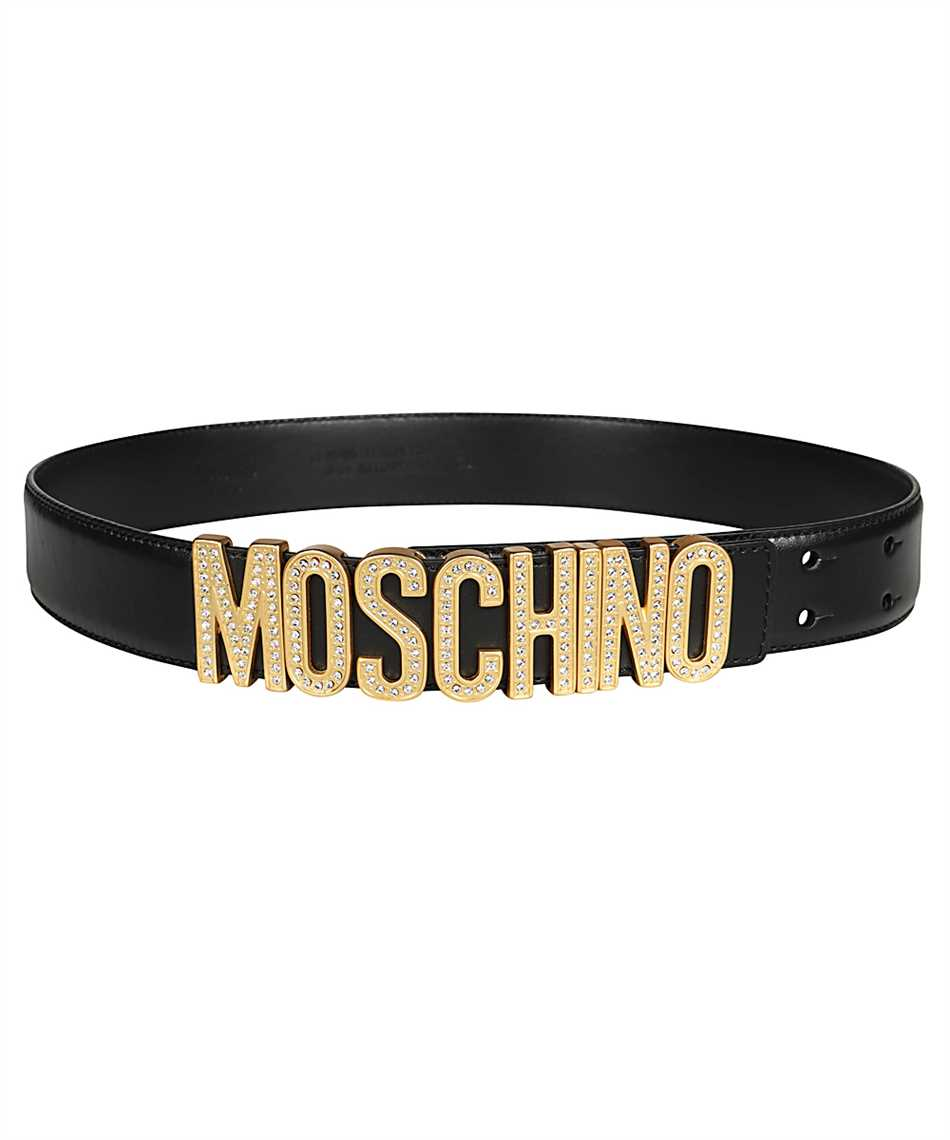 Moschino A8013 8006 RHINESTONES LOGO Belt 1