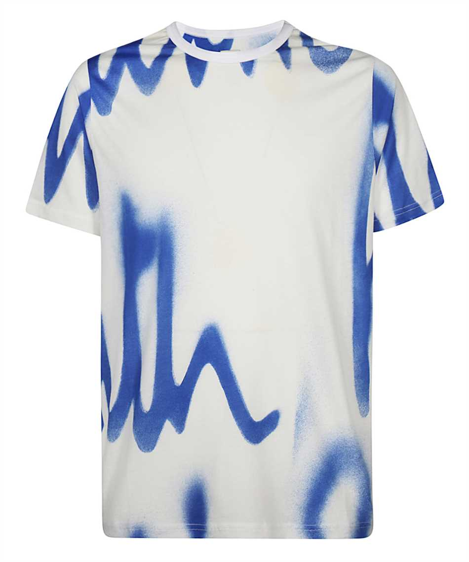 Paul Smith M1R 648U FP2689 SPRAY LOGO PRINT T-Shirt 1