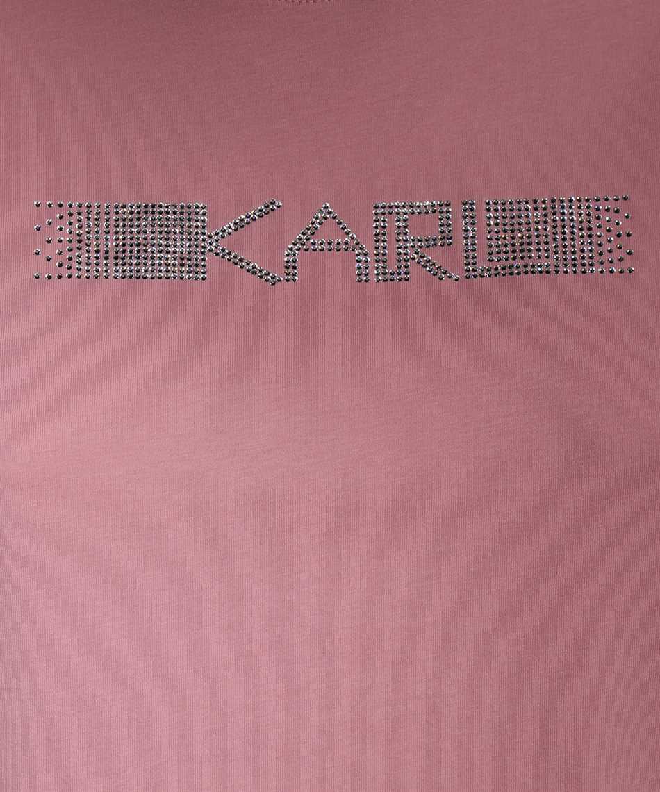 Karl Lagerfeld 211W1706 RHINESTONE KARL LOGO T-shirt 3