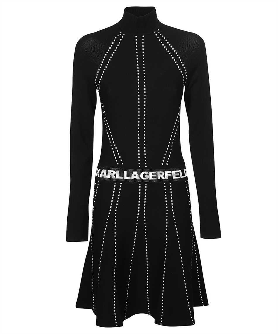 Karl Lagerfeld 216W2031 CONTRAST STITCH KNIT Dress 1