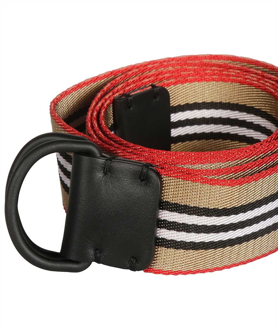 Burberry 8010425 ICON STRIPE DOUBLE D-RING Belt 3