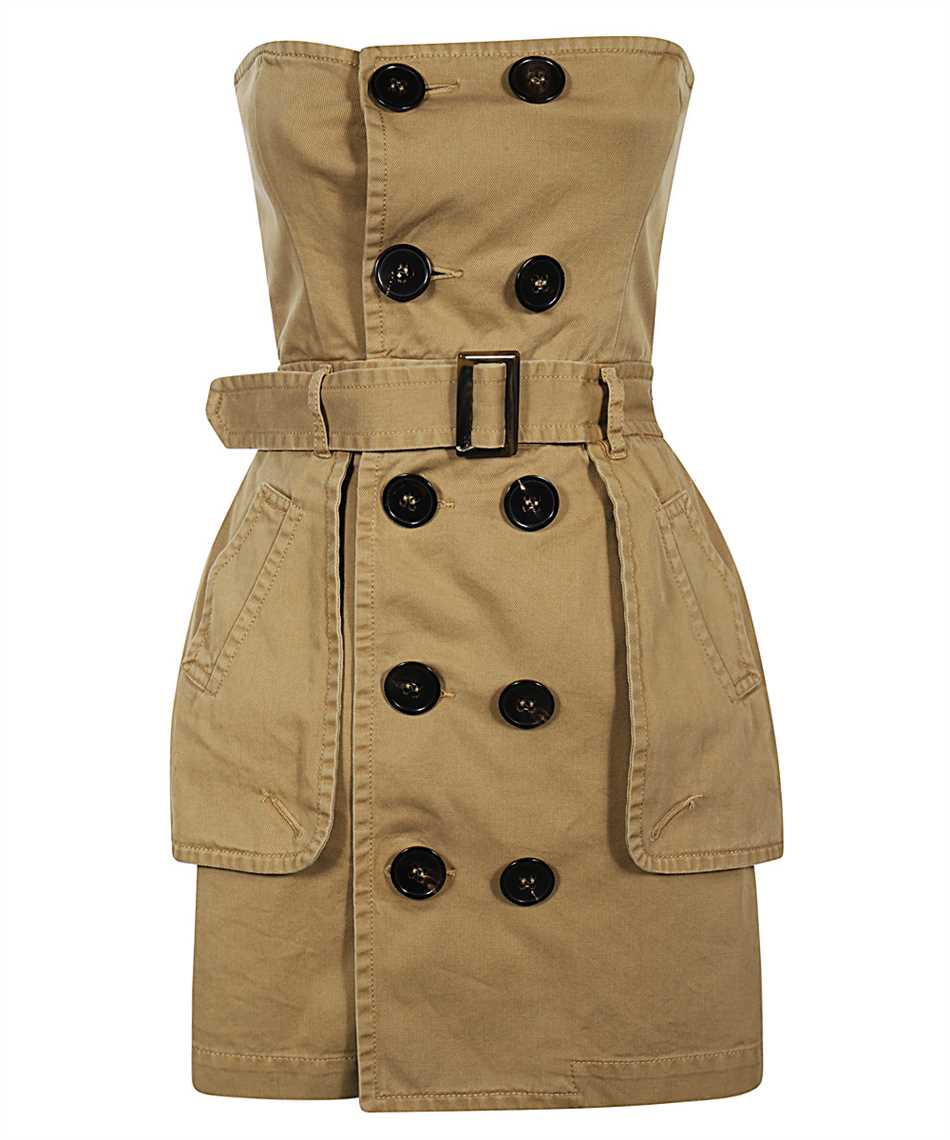 Dsquared2 S72CV0137 S52994 DECONSTRUCTED TRENCH Dress 1