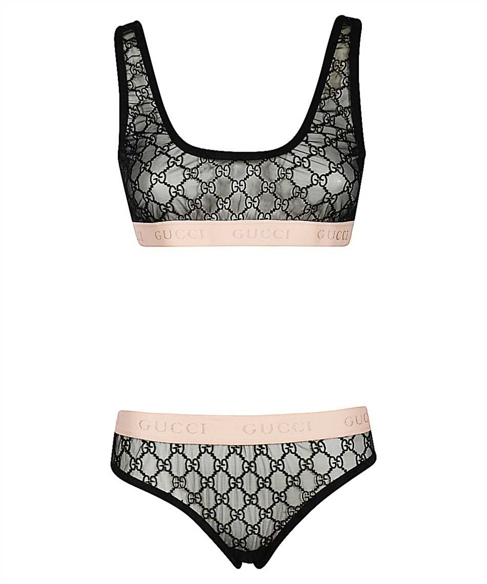 Gucci 622168 XJBVY GG EMBROIDERY Dessous-Set 1