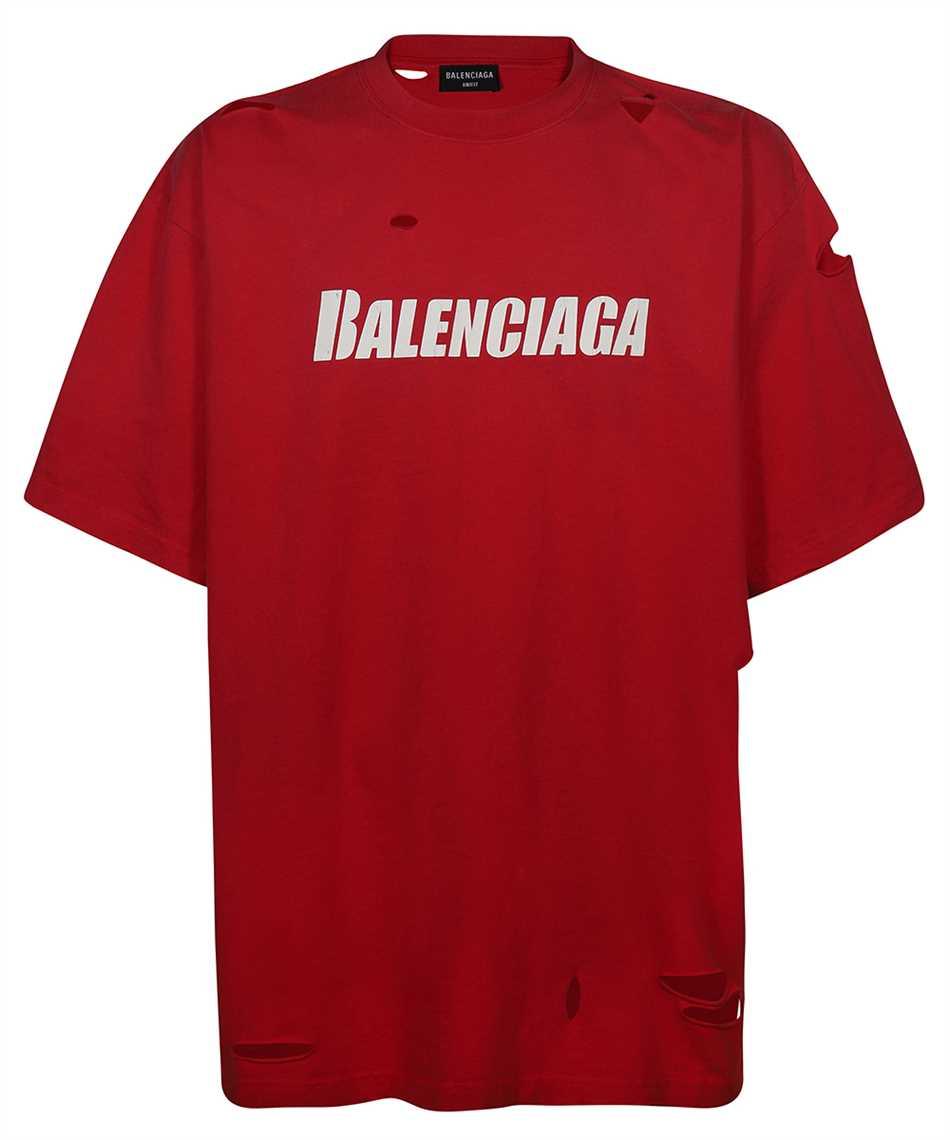 Balenciaga 651795 TKVB8 CAPS DESTROYED FLATGROUND T-shirt 1
