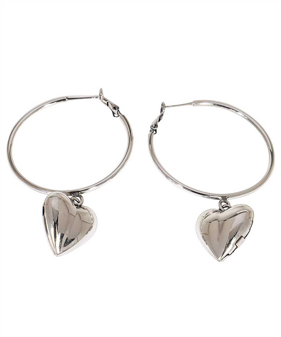 Alexander McQueen 640266 J160Z HEART LOCKET HOOP Náušnice 2
