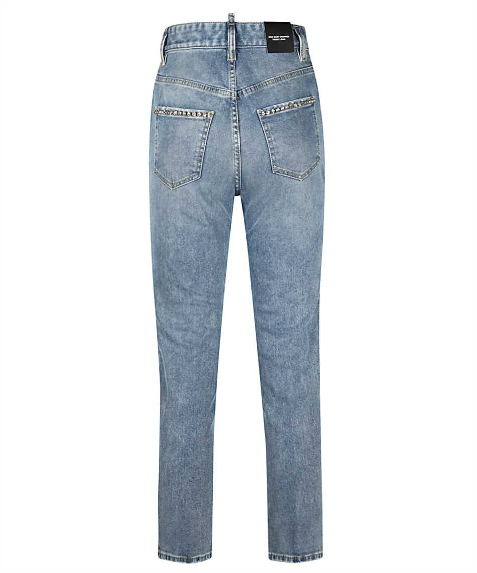 Dsquared2 S75LB0470 S30595 HIGH WAIST CROPPED TWIGGY Jeans 2