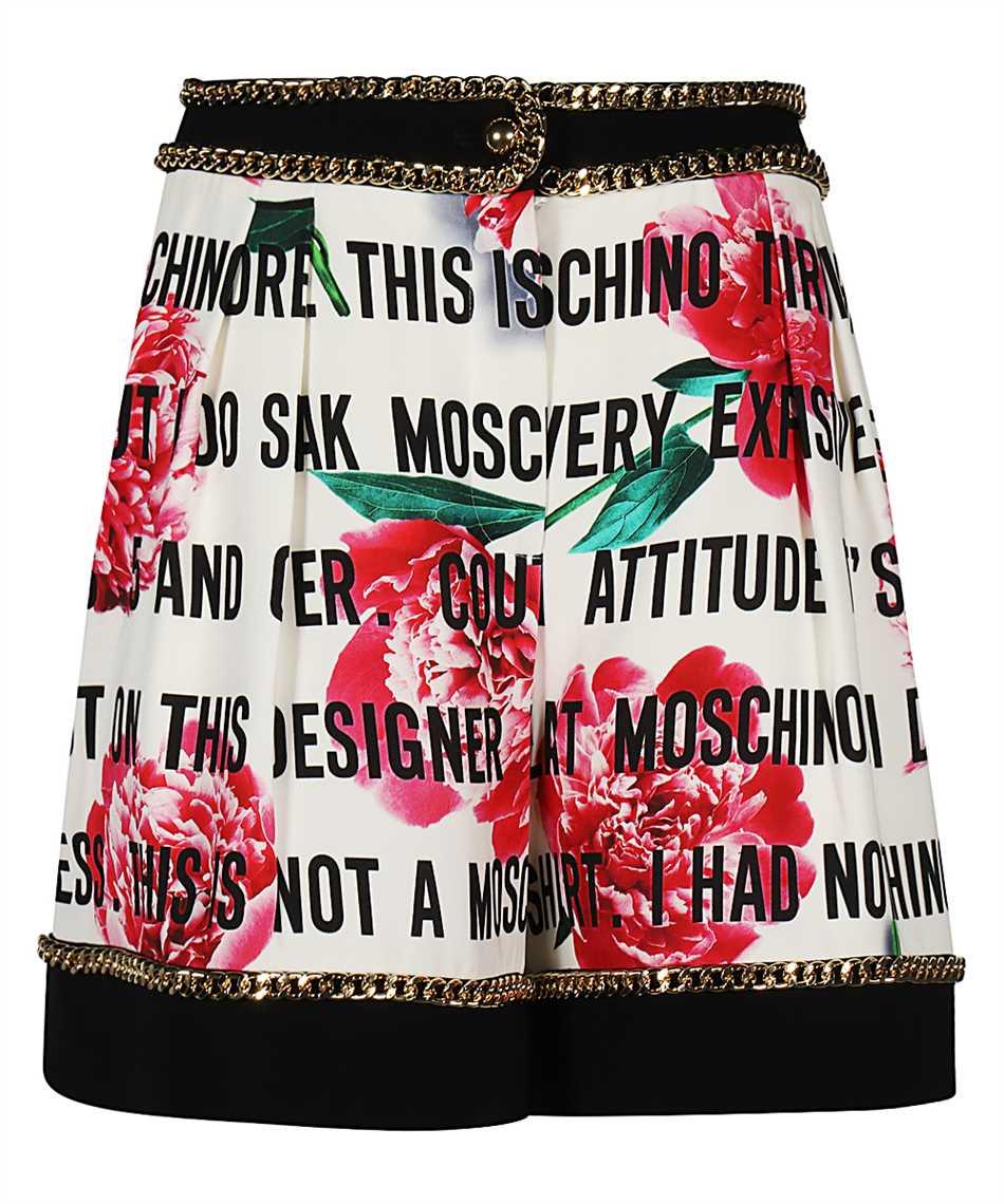 Moschino J0313 561 SLOGAN & FLOWERS CADY Krátke nohavice 1
