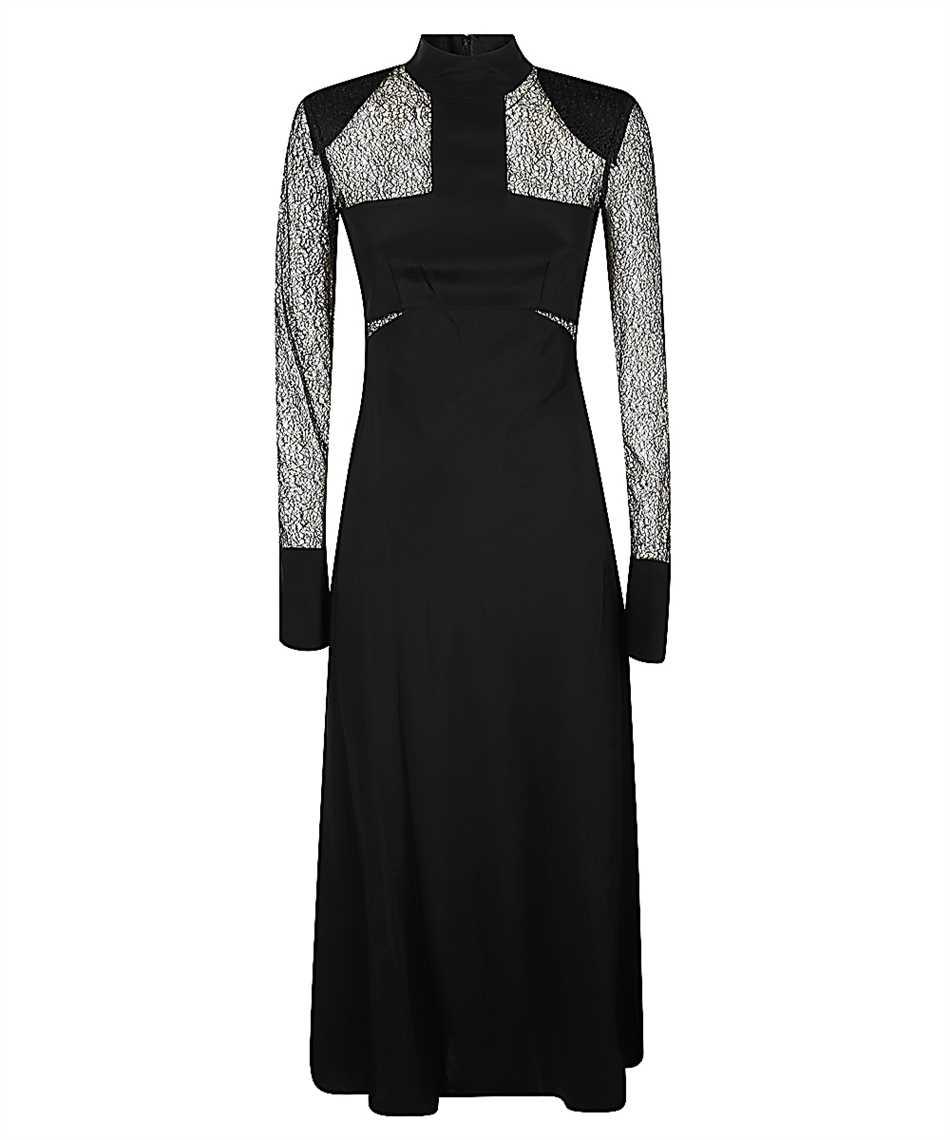 Karl Lagerfeld 206W1305 LACE AND SILK MIDI Dress 1
