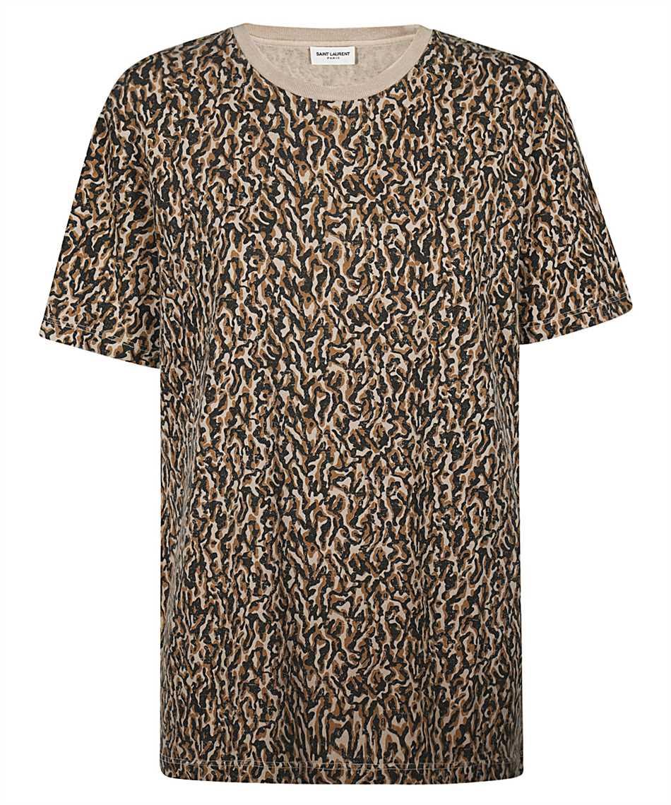 Saint Laurent 628558 YBUY2 LEOPARD-PRINT T-shirt 1