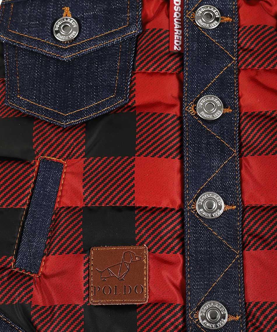 Dsquared2 VEP0001 16803639 D2 x POLDO CHECK COLLARED Weste 3