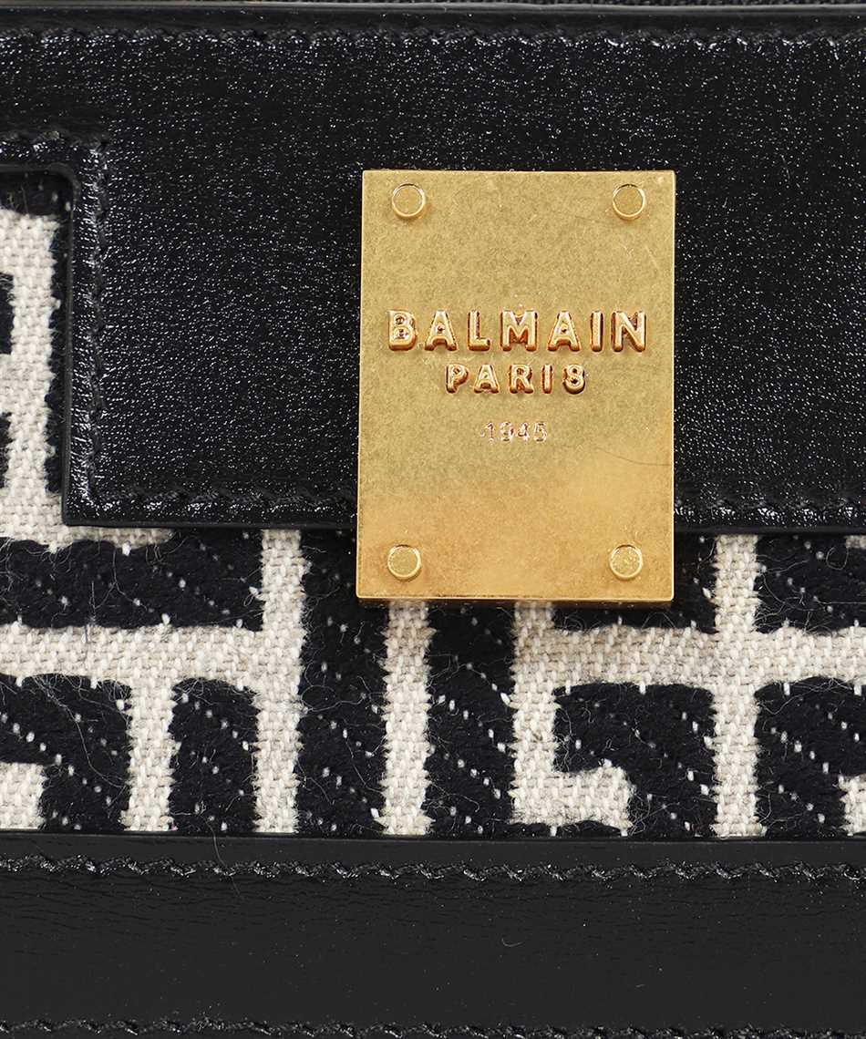Balmain WN1LA127TJLX BICOLOR JACQUARD LEATHER PANELS 1945 Card holder 3