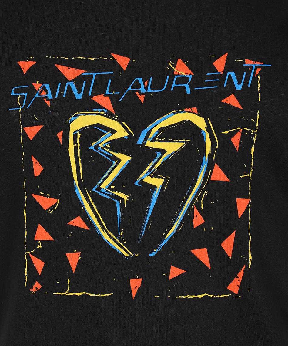 Saint Laurent 631805 YBVV2 BROKEN HEART Tričko 3