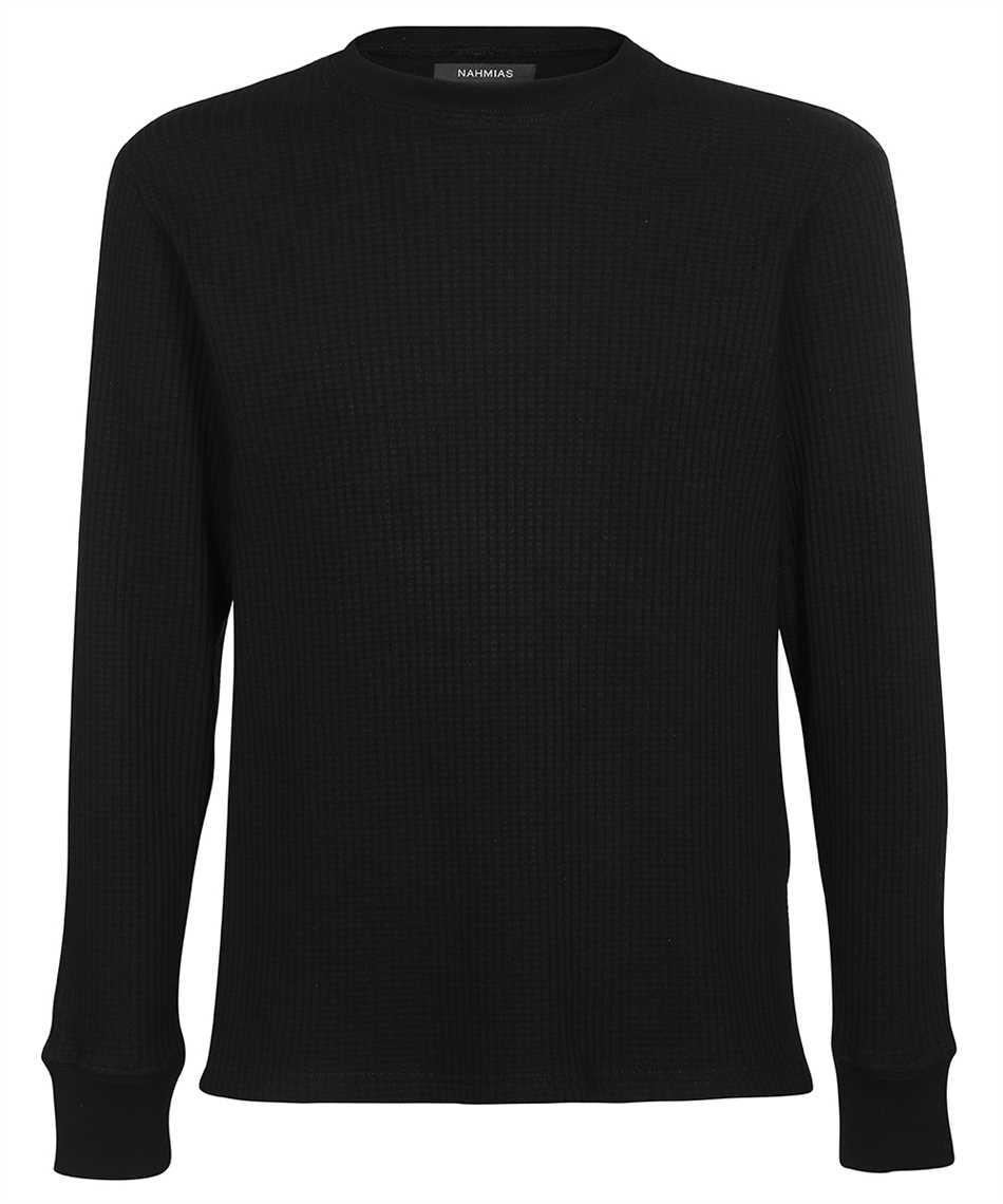 Nahmias WT SHIRT BLACK WAFFLE THERMAL Knit 1