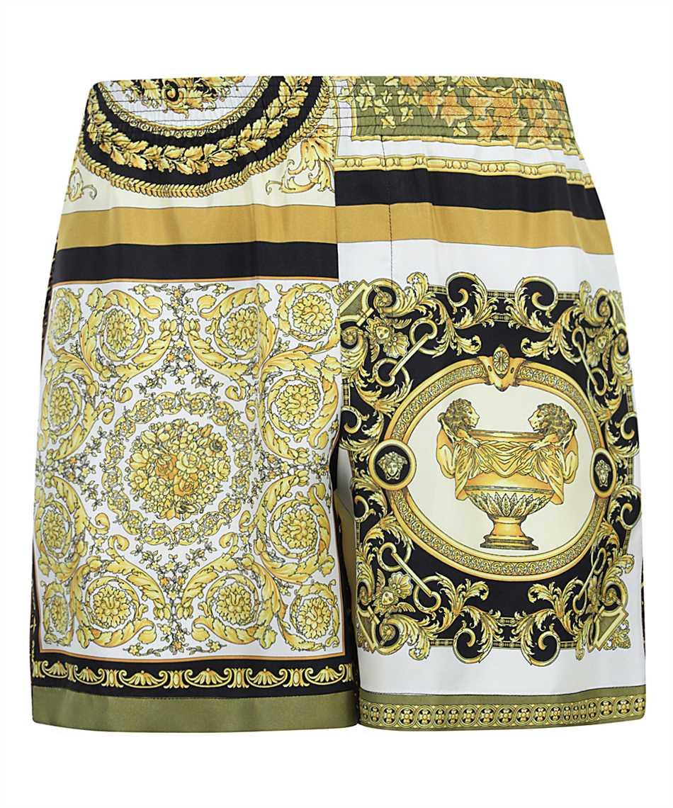 Versace A84097 1F00719 BAROCCO MOSAIC PRINT SILK Shorts 1