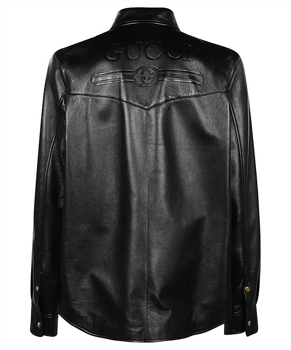 Gucci 624736 XNALJ LEATHER Shirt 2